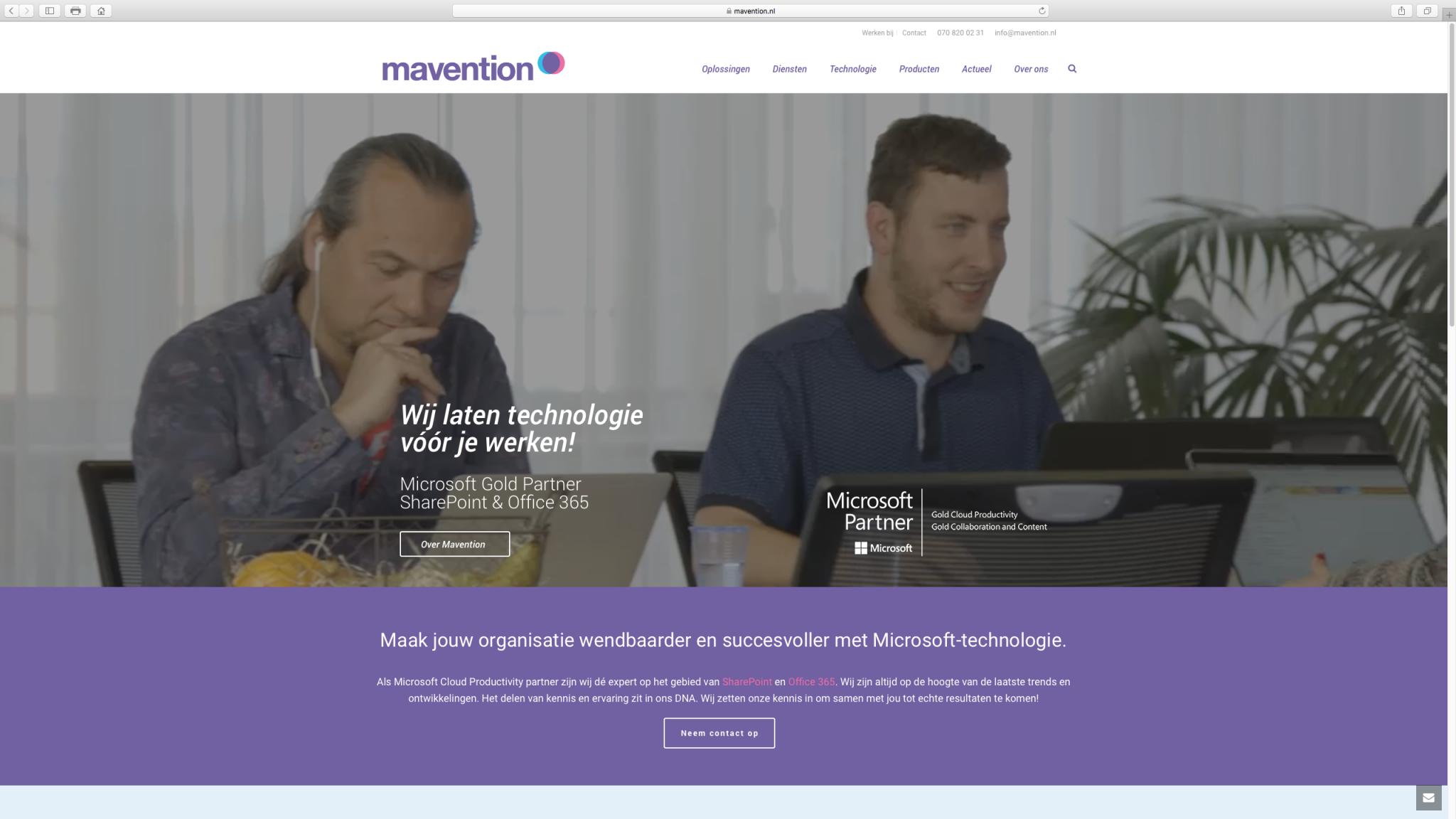 Ponck portfolio Mavention