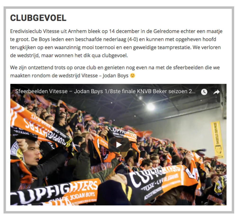 video embedden in blogposts vergroot dweeltime website