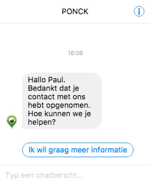 Facebook Messenger-bericht