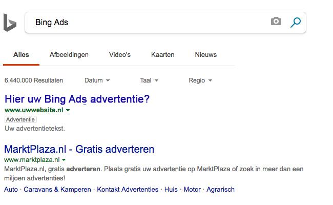 Adverteren met Bing Ads