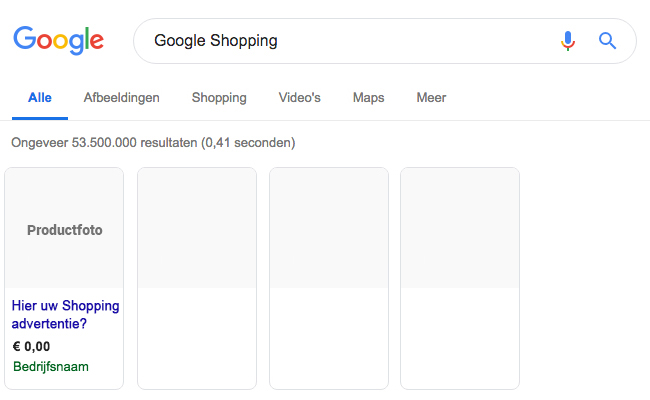 Google Shopping adverteren