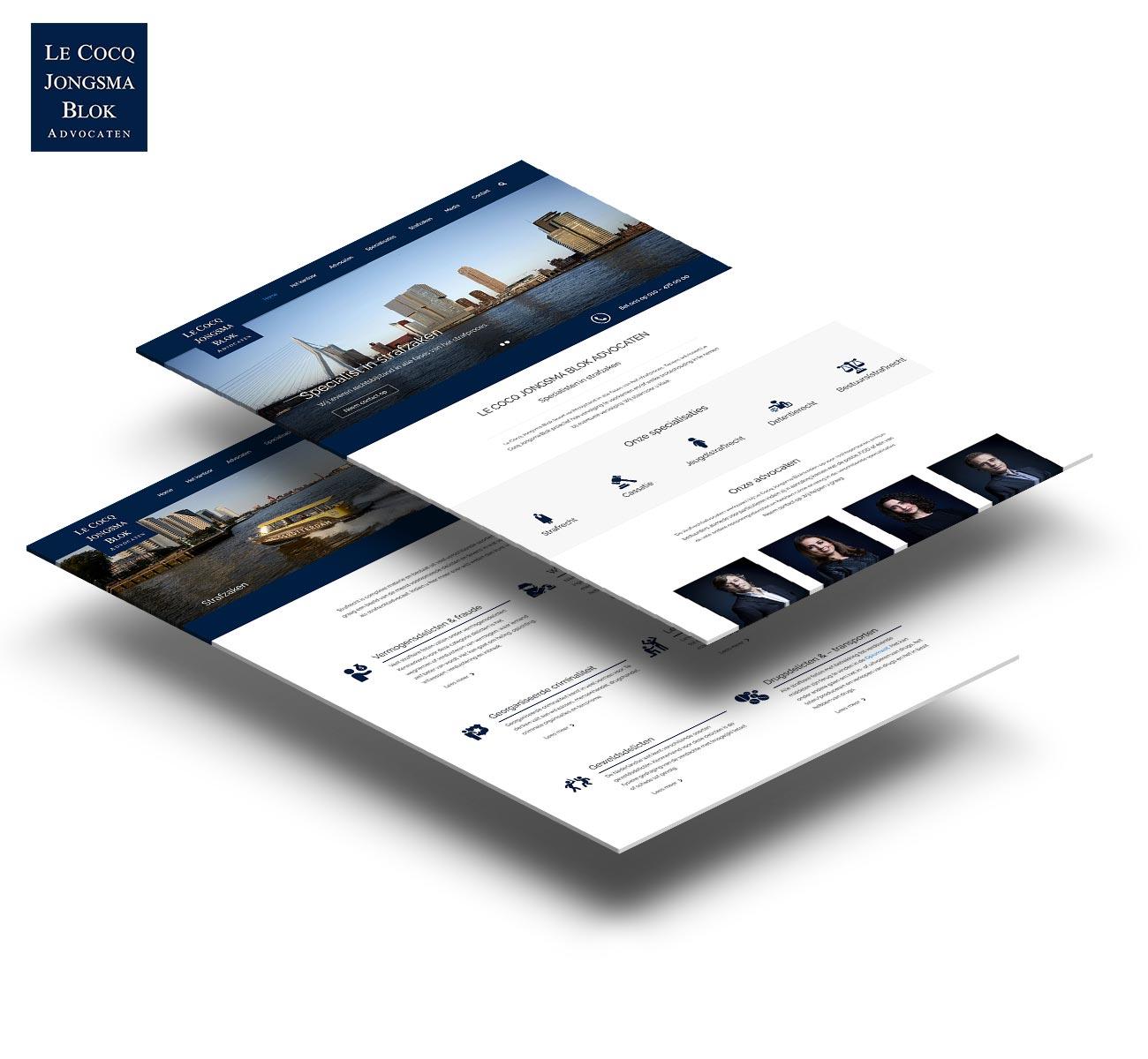 Le Cocq Jongsma Blok Advocaten website