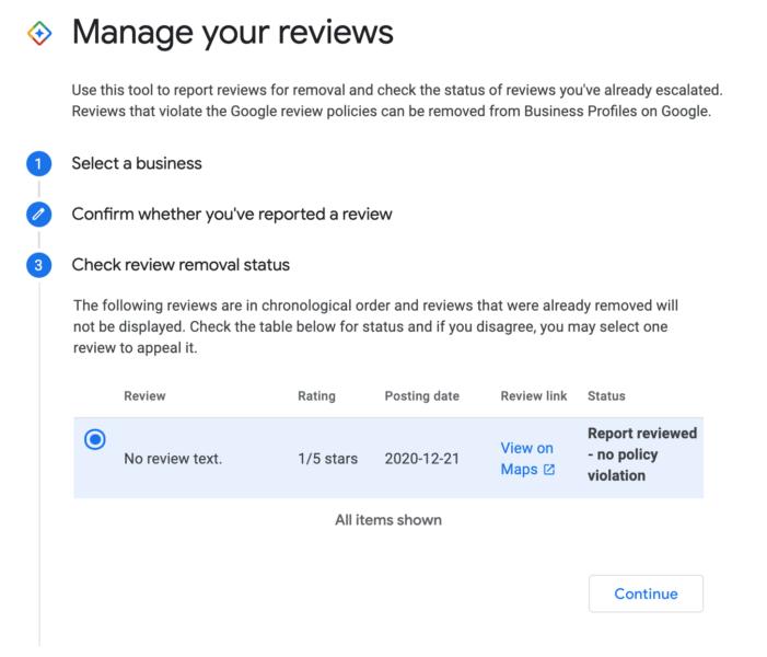 google-mijn-bedrijf-status-van-gerapporteerde-review